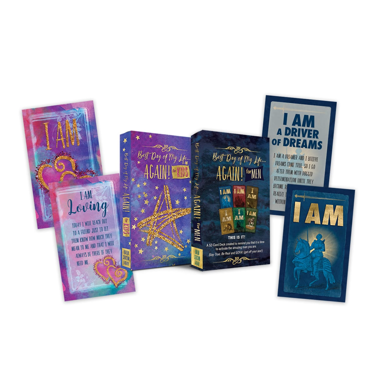 Men's & Kids I AM Affirmation Cards Bundle