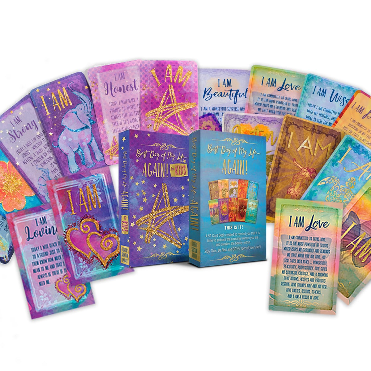 Women's & Kids I AM Affirmation Cards Bundle